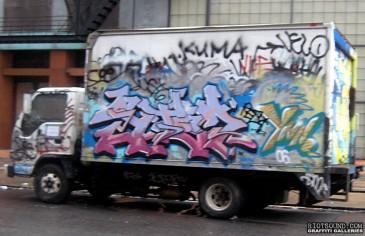 Bombed Box Truck