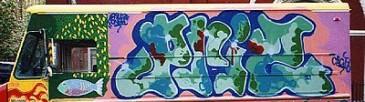Graffiti On New York Truck