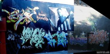 Halloween Graffiti Mural