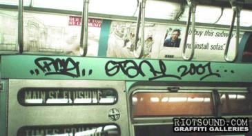 Subway Inside Graffiti Tags