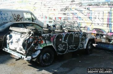 34 Car Covered With Graffit