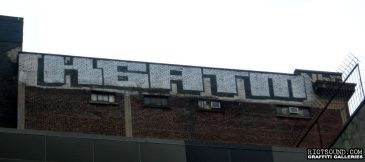 Block Letters Rooftop Graff