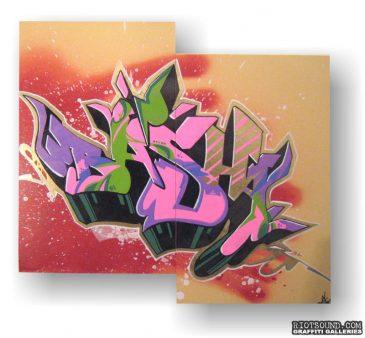 Graff Art On Canvas