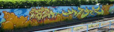 Graff By Train Tracks