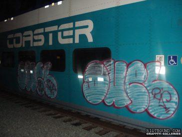 Graff Fillin On Train