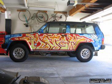 Graffiti Art On Car