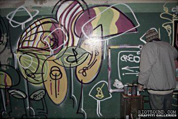 Graffiti Artist At Work