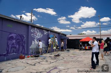 Graffiti Artists At Wall
