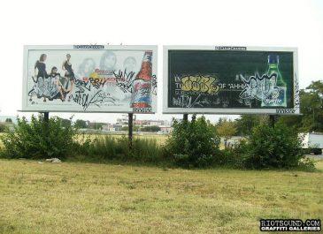 Graffiti On Billboard
