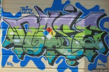 Graffiti Piece On Gate