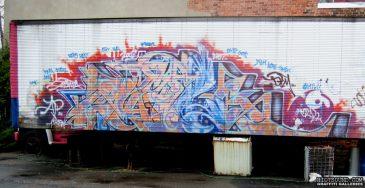 Graffiti Piece On Truck Trailer