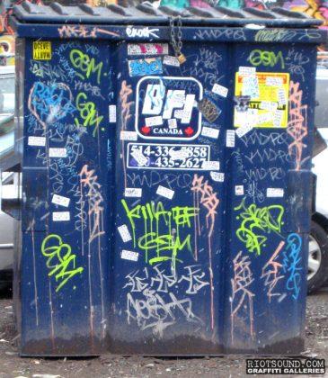 Graffiti Tags On Dumpster
