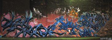 Graffiti Wall At Night