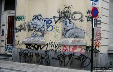 Graffito en Belgique