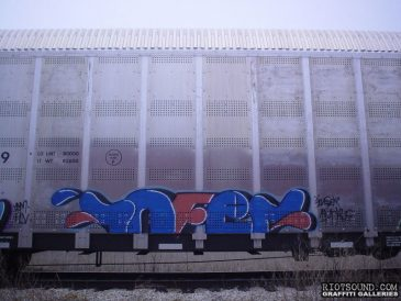 INFER Train Car Graff