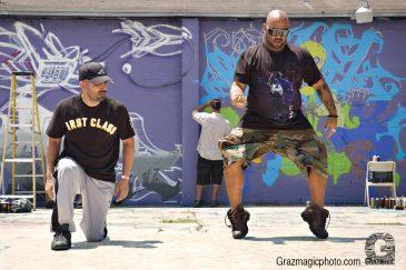 Old school breakdancer