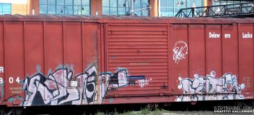 Painted Freight Car