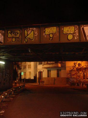 Street Art On Overpass