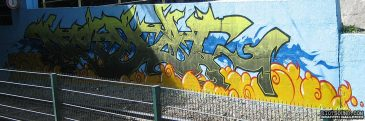 Tram Station Graffiti Burner