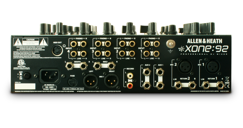 Allen Heath Xone92 Professional 6 Channel Dj Mixer Riotsound Fuse Box Processor Make Offer