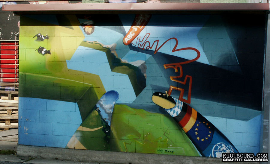 3D Graffiti Mural