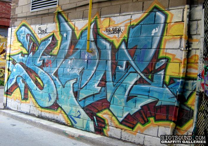 Aerosol Graffiti Piece