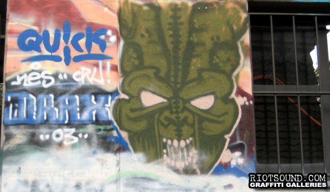 Alien Graffiti Drax