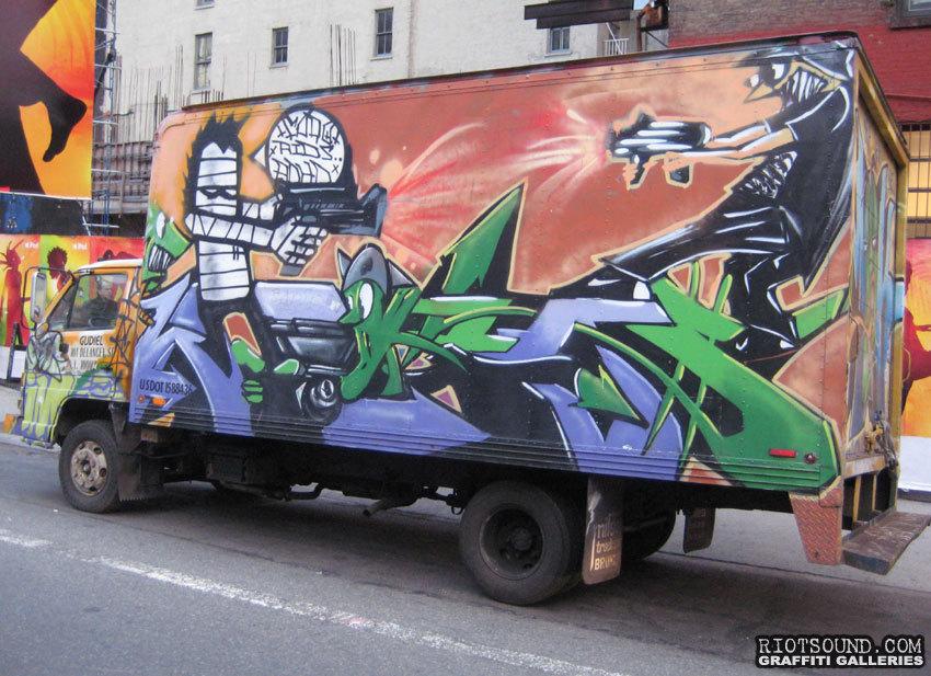 Graff Mural On Truck