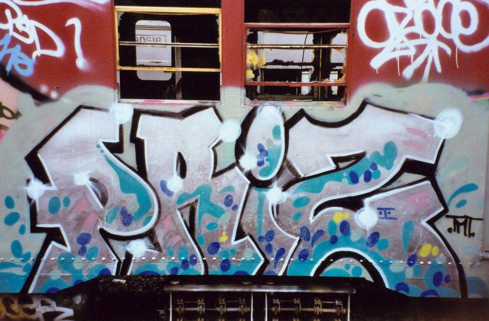 Graffiti_On_New_York_Train