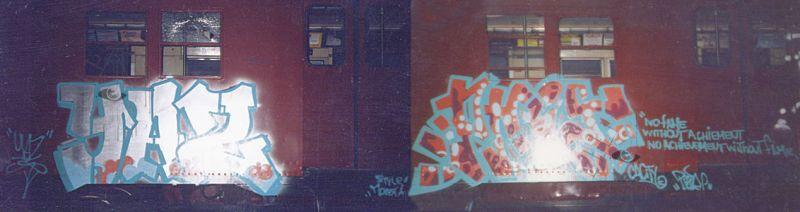 Graffiti_On_Redbird_Subway_Car
