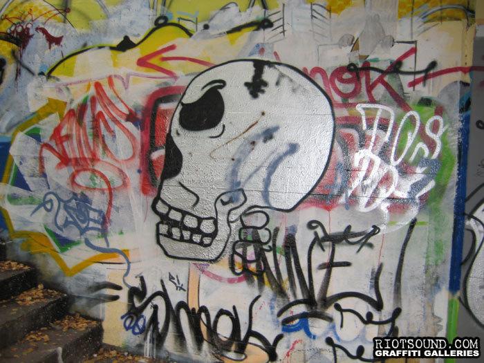 Graffiti Skull