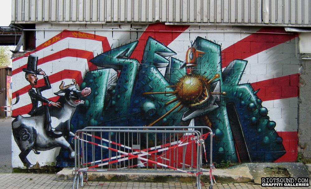 Kultfabrik Germany Mural