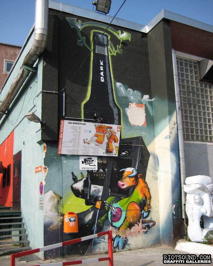 Munchen Graffiti Mural