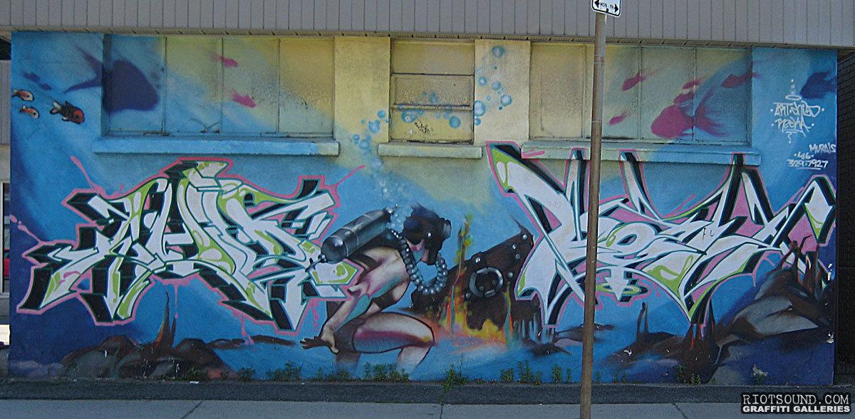 Mural On City Street