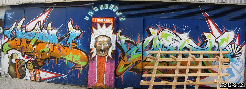 Tikal Calle Graffiti