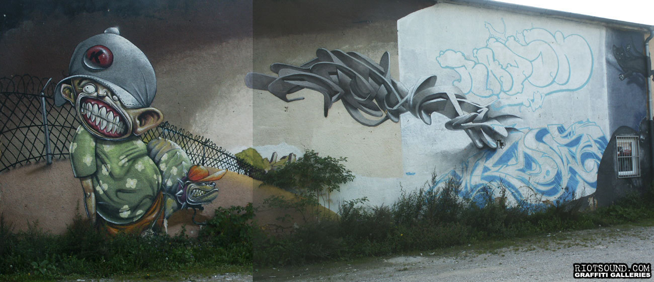 Unfinished Graffiti Mural