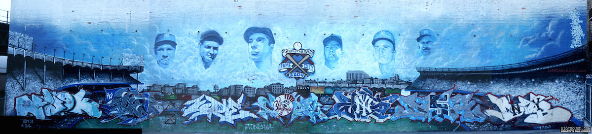 Yankees Graffiti Mural Bronx