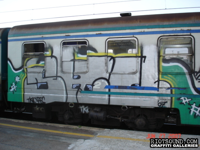 10 Train Car Graffiti Milan Italy