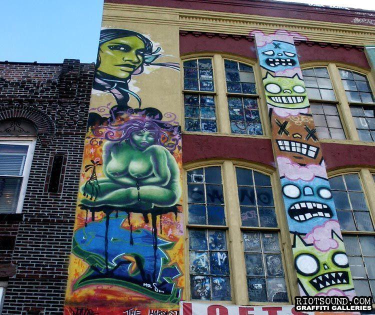 2 Graffiti On Facade
