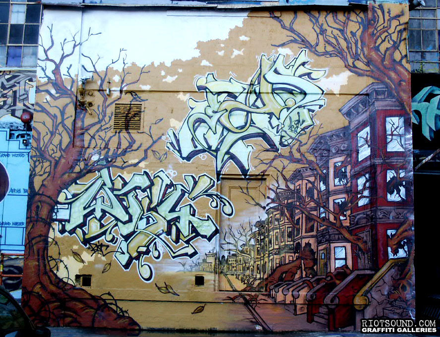 46 NY Brownstones Mural