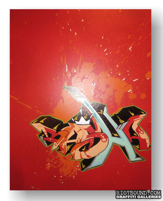 Aerosol Art On Canvas
