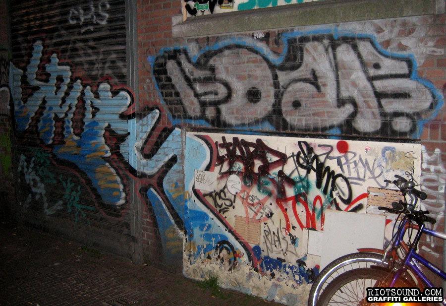 Alleyway Graffiti Amsterdam