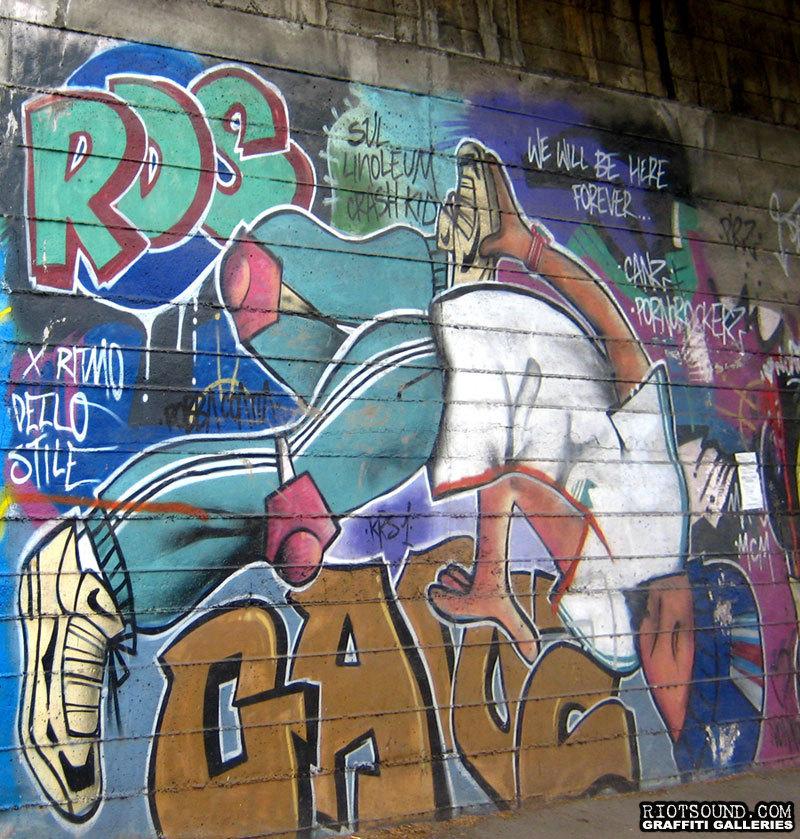 B Boy Mural In Italy