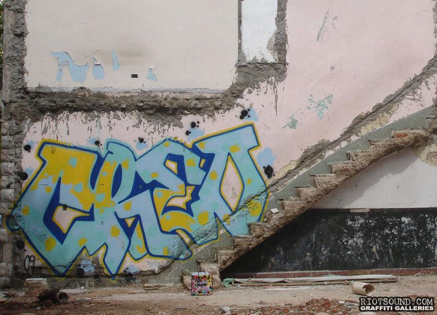 Baby Blue Graffiti