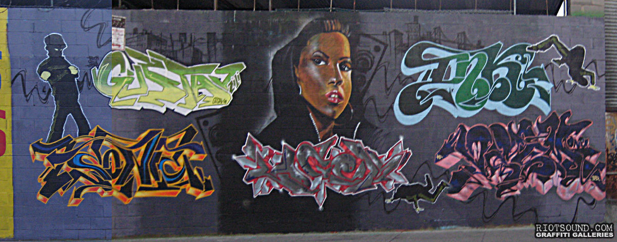 Bronx Graffiti Wall