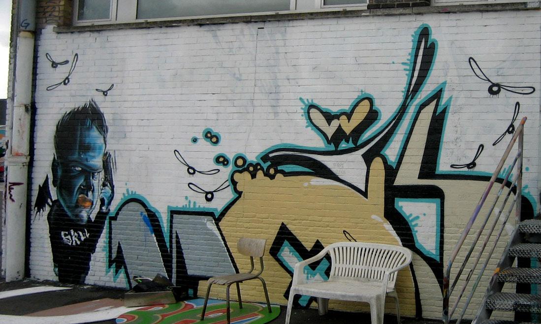 Brugge Belgium Graffiti
