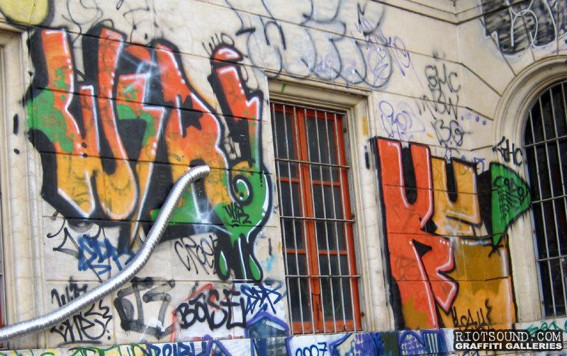 Graff Tags On Wall