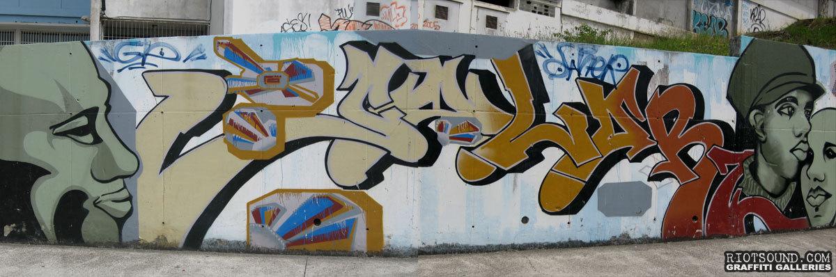 Graffiti Mural In Grenada
