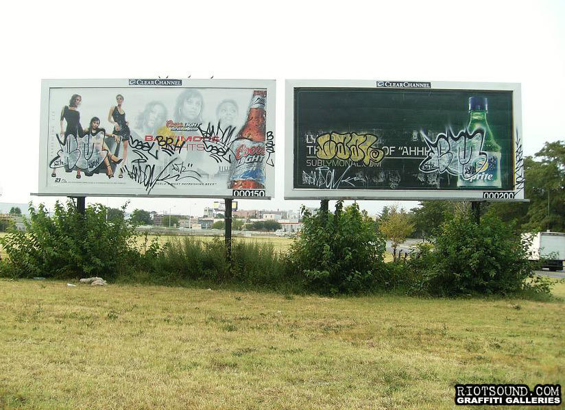 Graffiti On Billboard