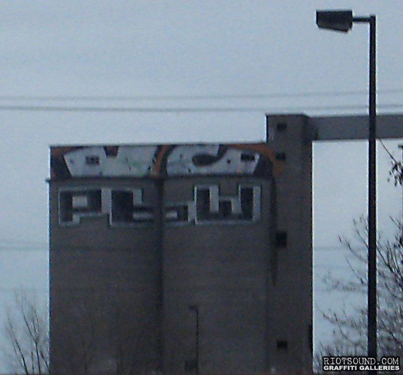 Graffiti On Factory